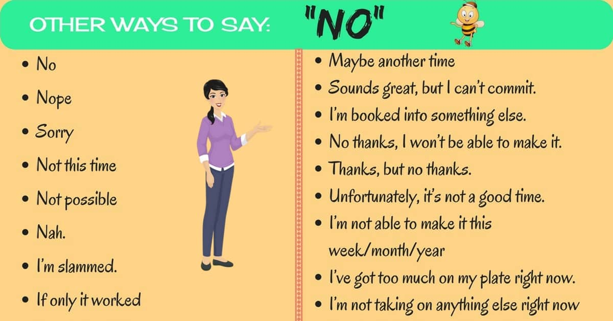 Powerful and Polite Ways to Say NO in English 6