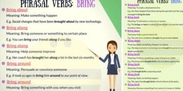 Learn 30+ Common English Phrasal Verbs with BRING 13