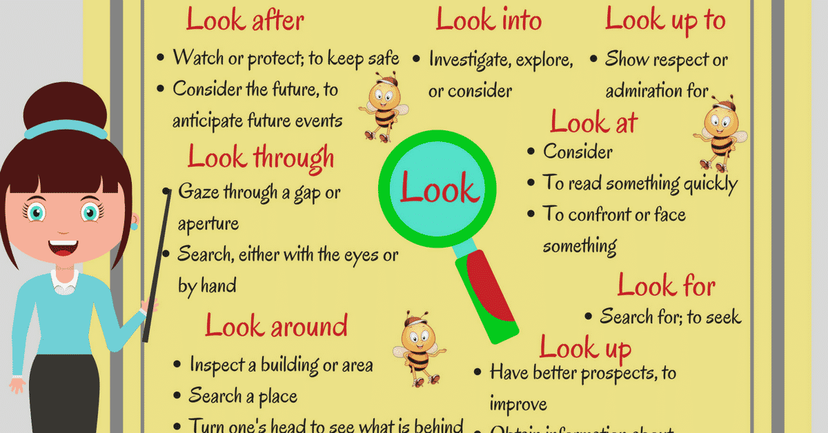 Common Phrasal Verbs with LOOK in English 8