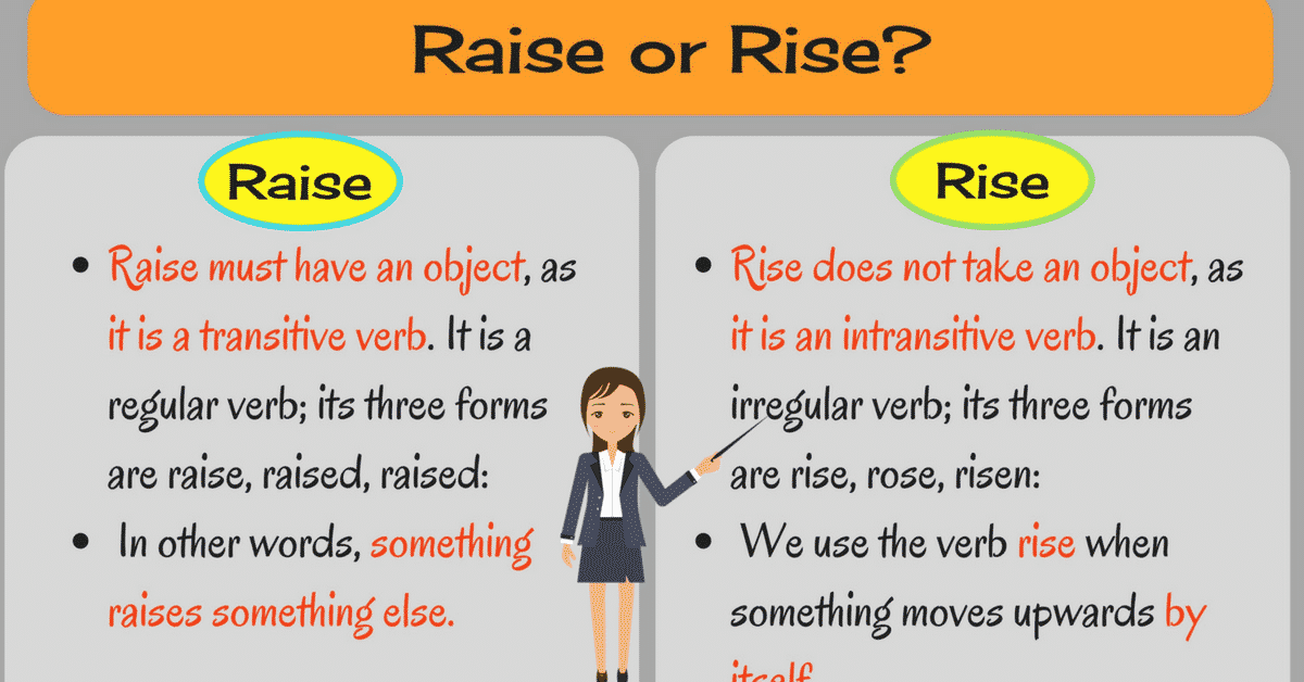 When to Use Raise vs Rise and Job vs Work (with Useful Examples) 3