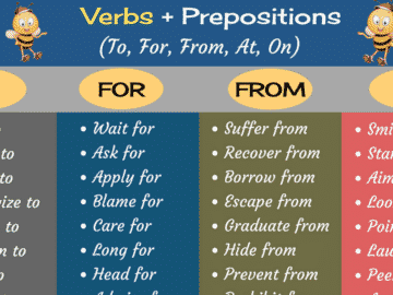 Common Verb and Preposition Combinations in English 14