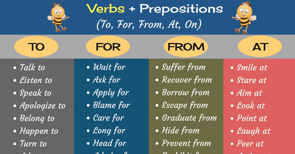 Common Verb and Preposition Combinations in English 6