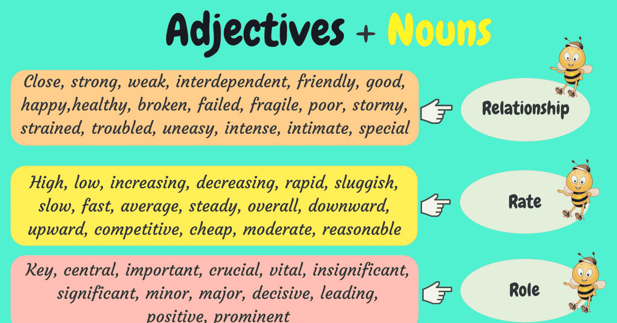 30+ Popular Adjective and Noun Collocations in English 3