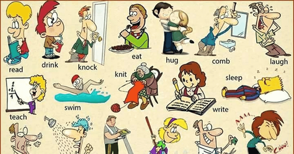 20+ Most Common Verbs in English 8