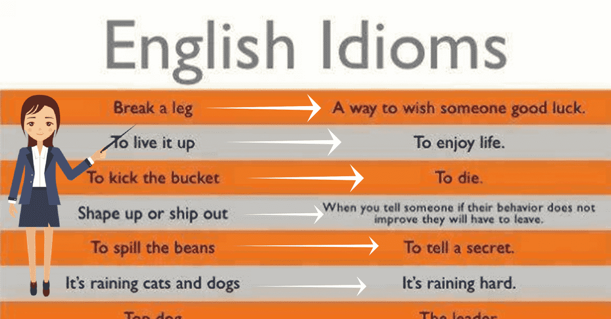 50+ Most Useful Idioms and their Meaning 14