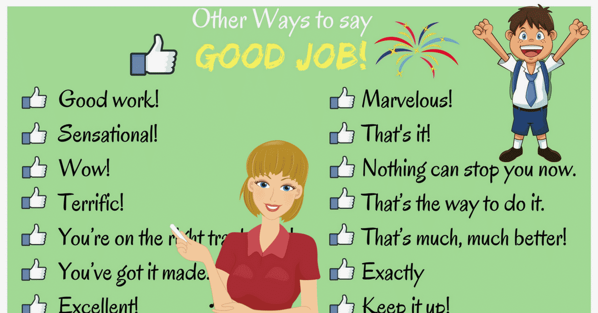 100 Powerful Ways to Say GOOD JOB in English 4