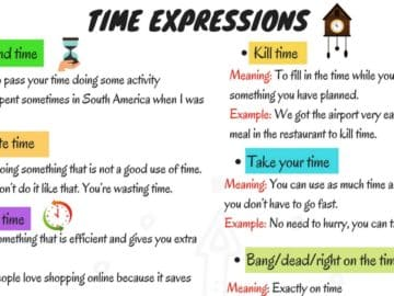 "Common Collocations with ""TIME"" You Should Know 14"