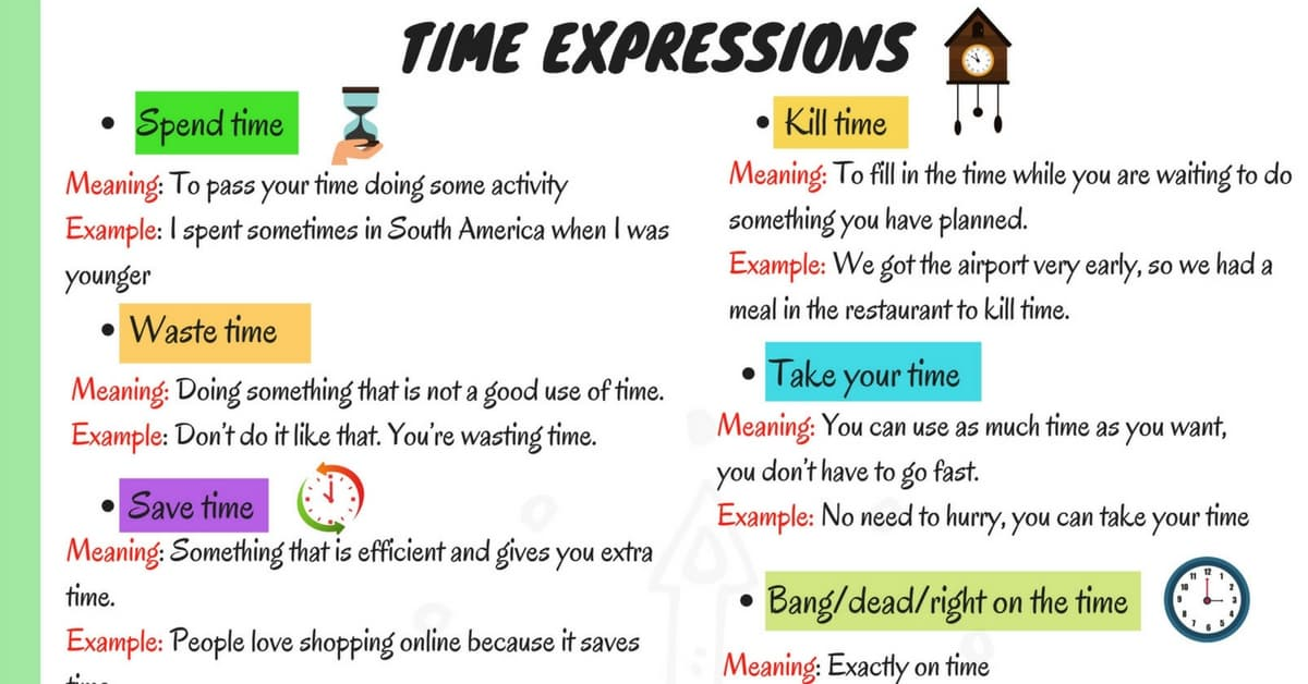 15+ Useful Collocations with TIME with Meaning and Examples 6