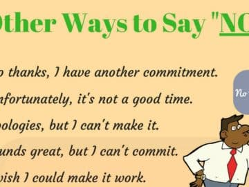 100 Different Ways to Say NO 12