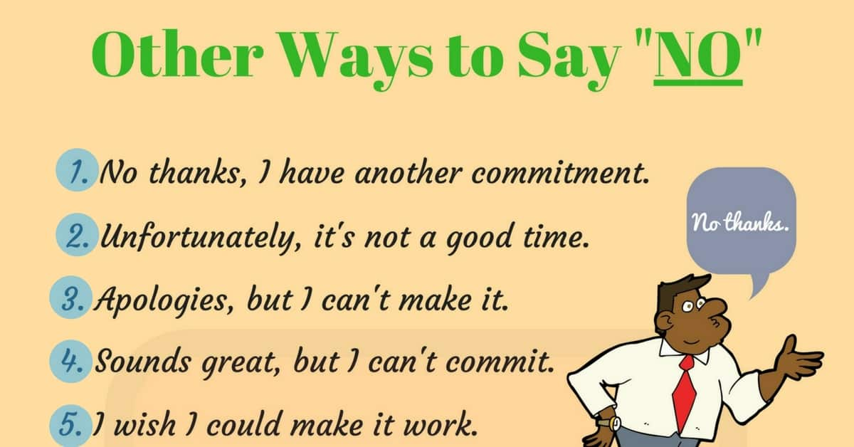 100 Different Ways to Say NO 5