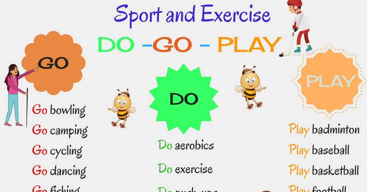 How to Use DO & GO and PLAY with Sports and Activities | Useful Collocations 3