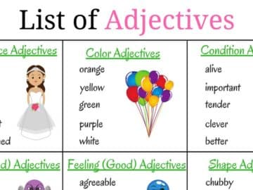 Top 200+ Adjectives Used in English Vocabulary for Speaking 15