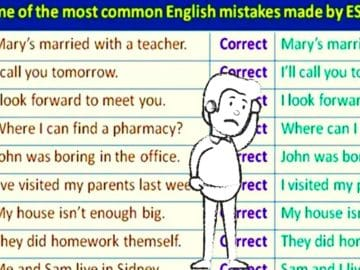 Some of the Most Common English Mistakes Made by ESL Students 14