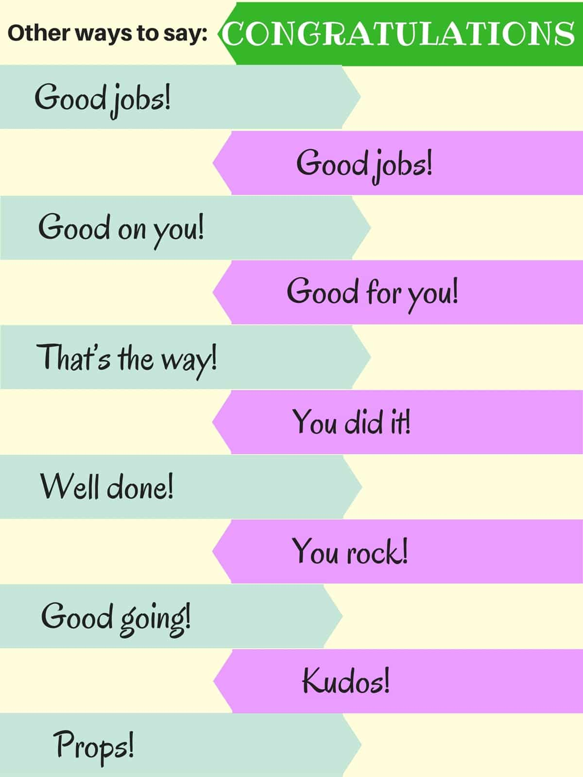 Other Ways to Say: Congratulations