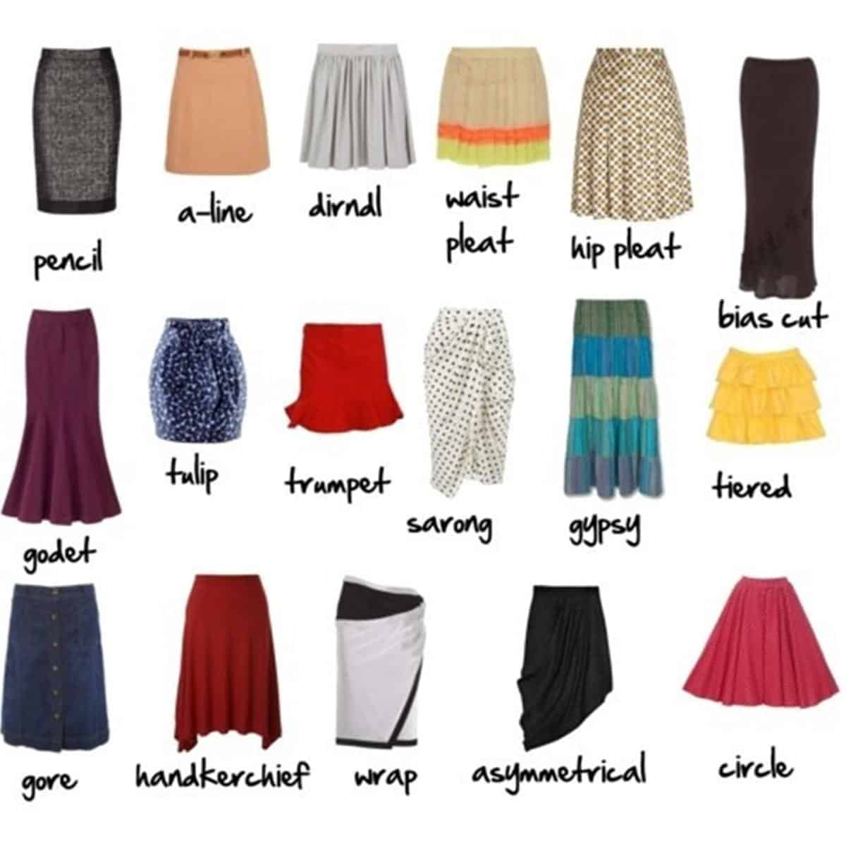 English Vocabulary: Skirt and Dress Styles 14