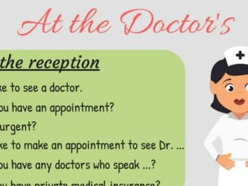 20+ Common English Phrases for the Doctor's Office 18