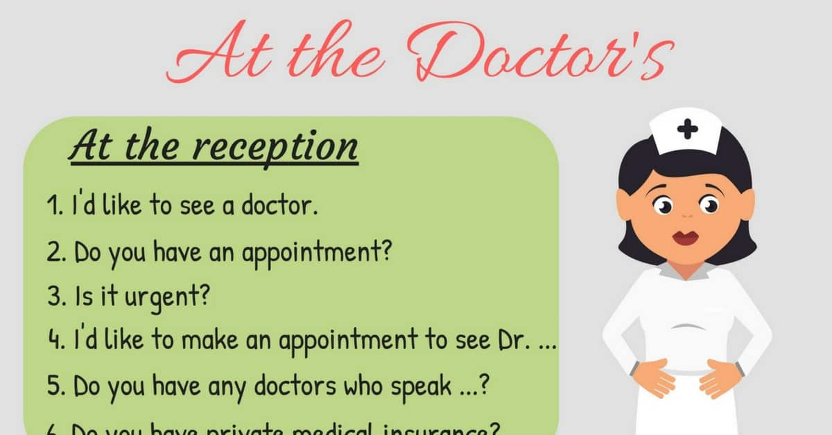 20+ Common English Phrases for the Doctor's Office 21