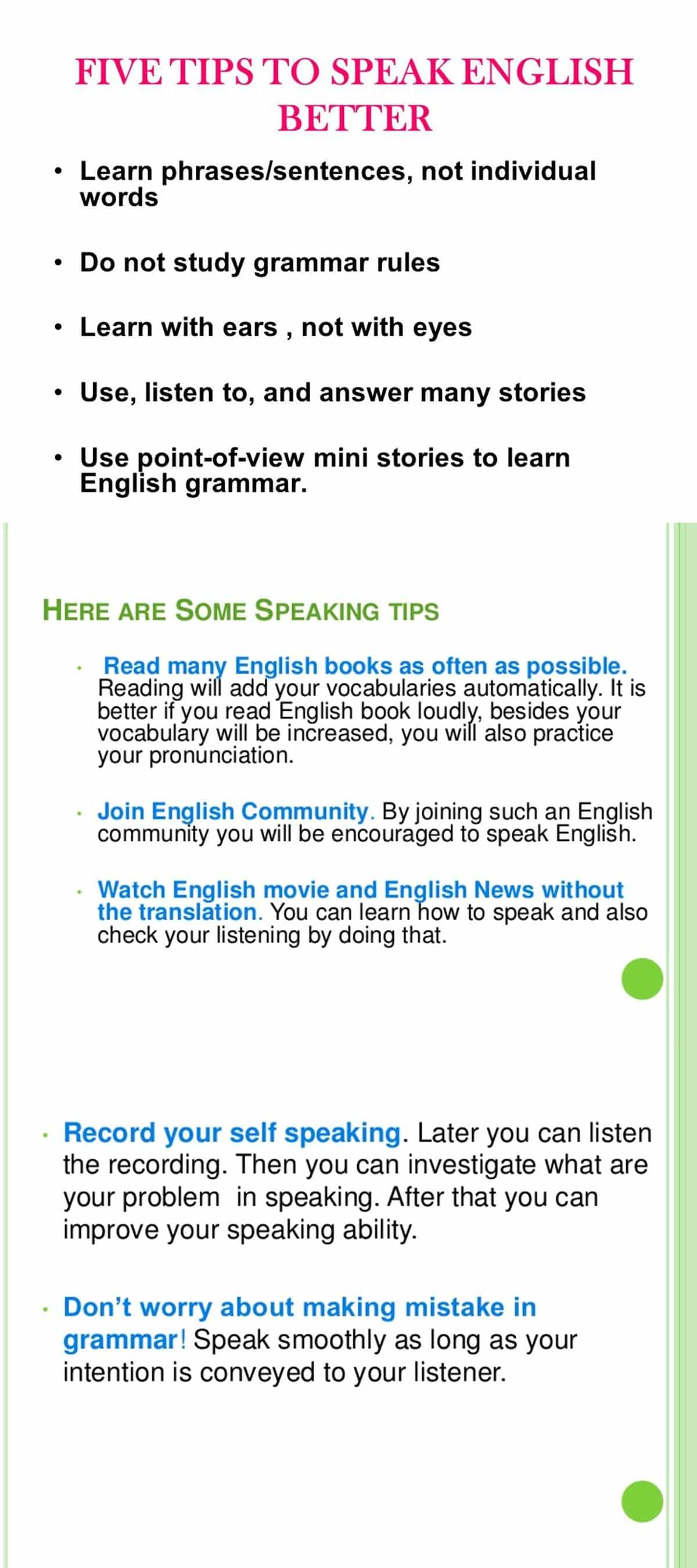 Top Tips for Improving Your English Language Skills 2