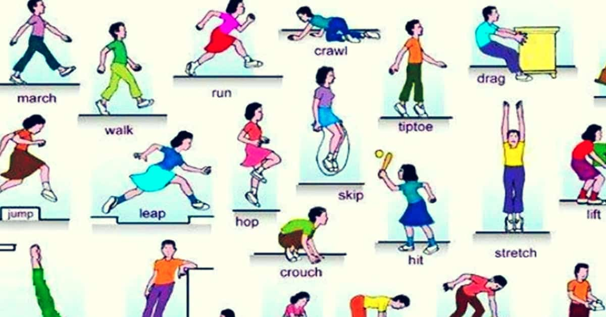 Action Words: List of Verbs of Body Movement with ESL Pictures! 5