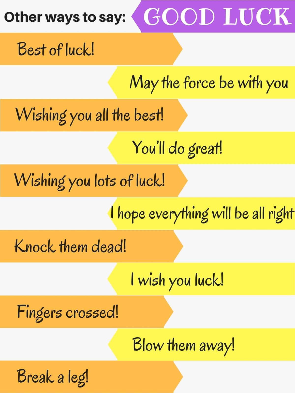 Other Ways to Say: Good luck
