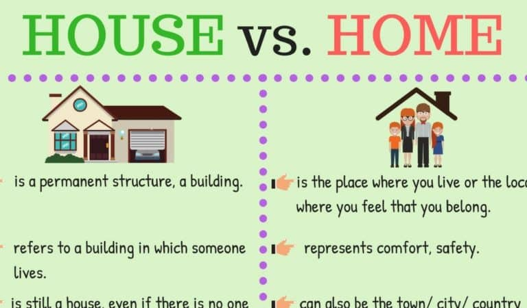 The Difference between A HOUSE and A HOME