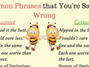 50 Common Phrases You Might Not Know You've Been Saying Incorrectly | Misspelled Words 16