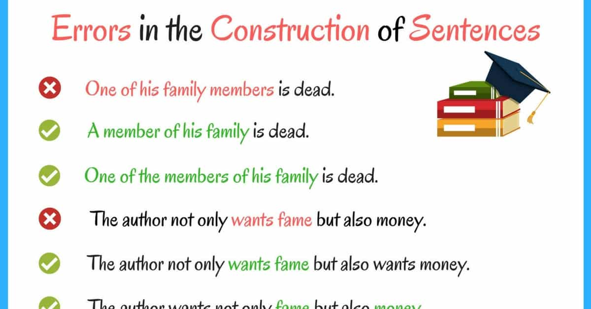 Common Errors in the Construction of Sentences 20