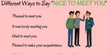"""20+ Different Ways to Say """"NICE TO MEET YOU"""" 14"""