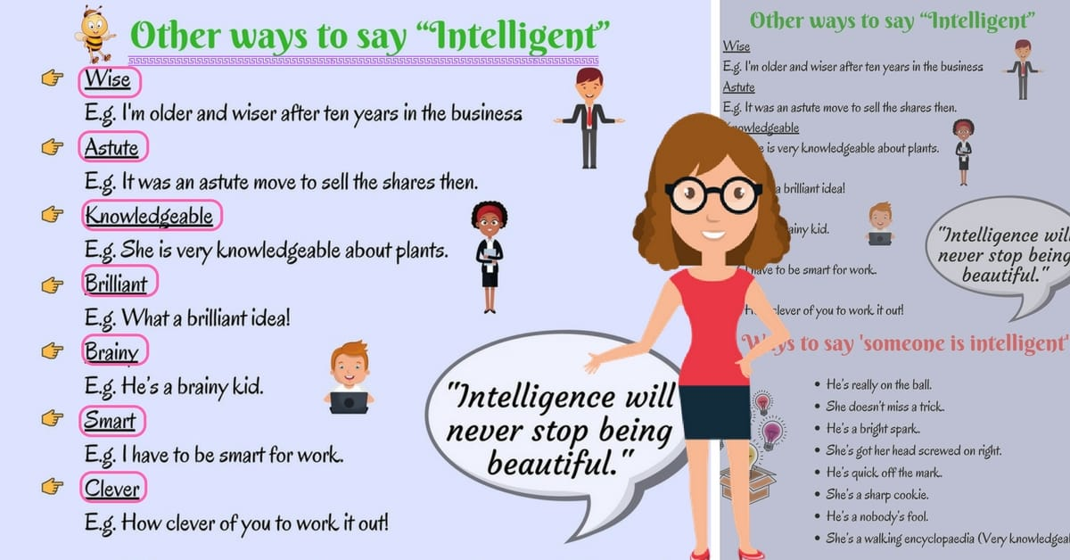 Creative Ways to Say Someone is Intelligent or Stupid