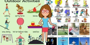 Outdoor Activities Vocabulary in English 1