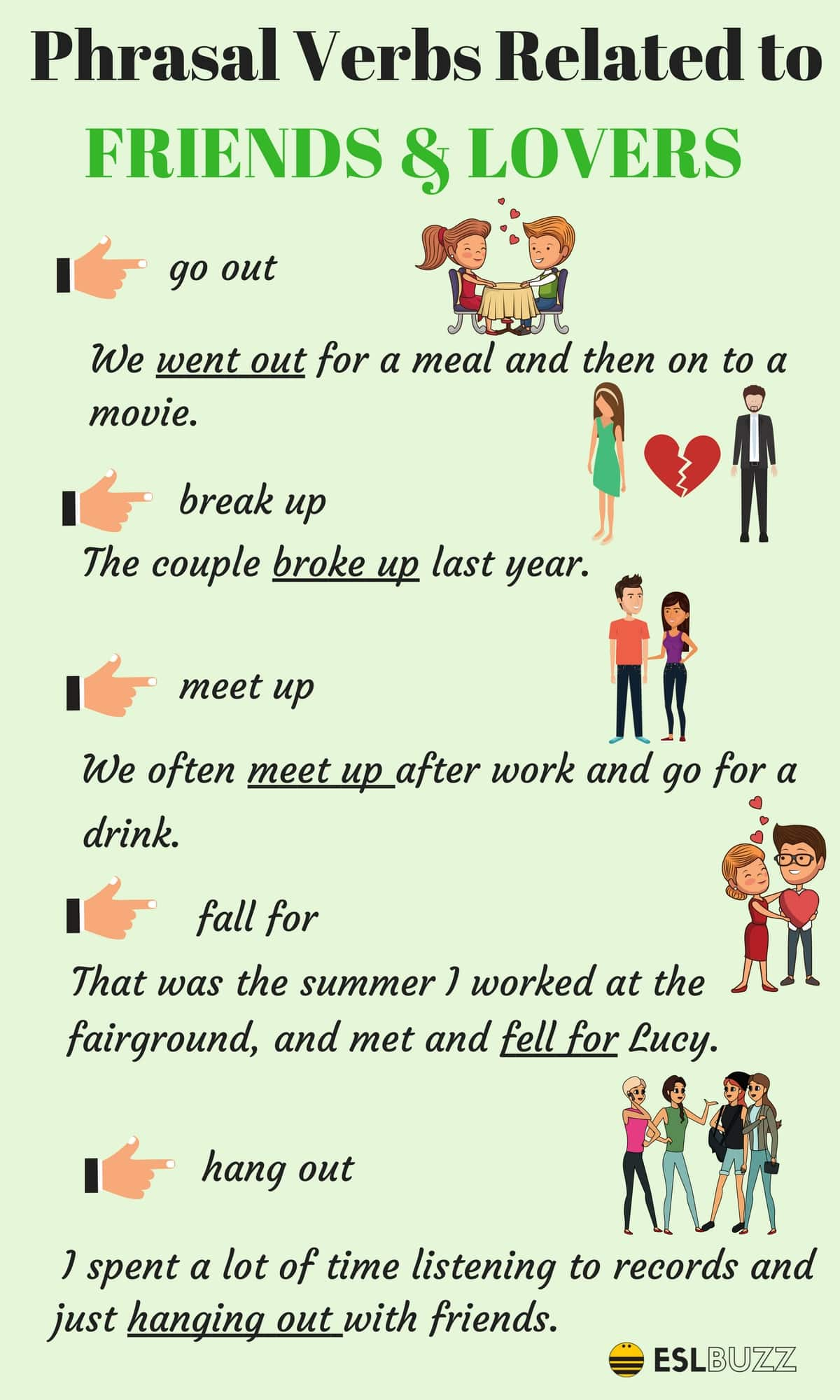 Phrasal Verbs Related FRIENDS & LOVERS