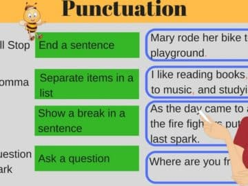 English Punctuation: Rules and Examples 17