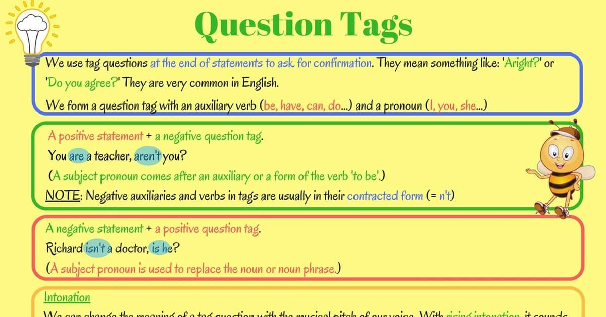 Grammar: Question Tags in English 5