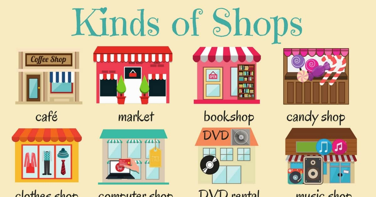 English Vocabulary: Types of Shops 1