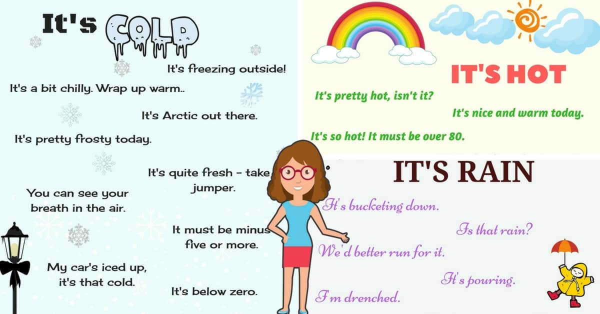 Useful Phrases Describing the Weather in English 6