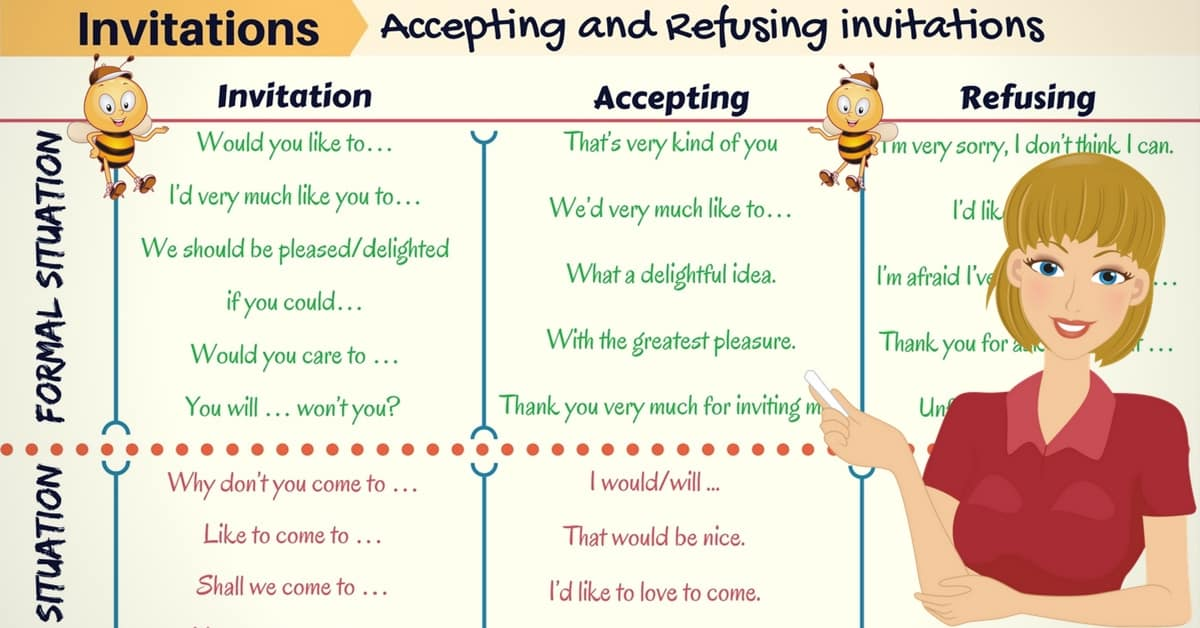 How to Accept and Refuse Invitations in English 4