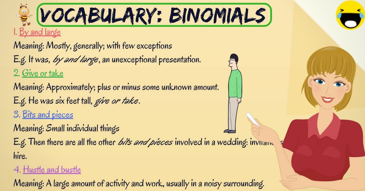40 Common Binomial Expressions in English 13