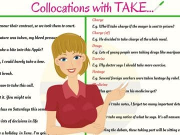 40+ Common English Collocations with TAKE 14