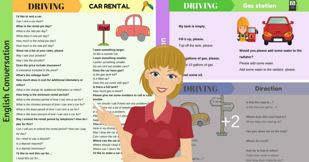 Useful Phrases to Talk about DRIVING in English 1