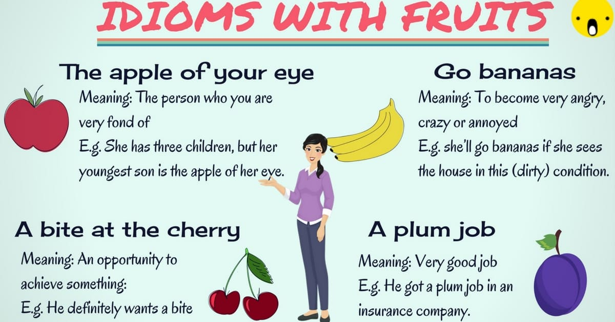 20 Common Idioms about Fruits in English 7