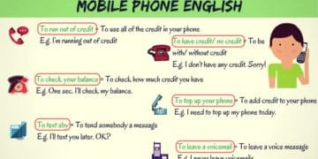 Common Telephone Vocabulary and Phrases in English 3