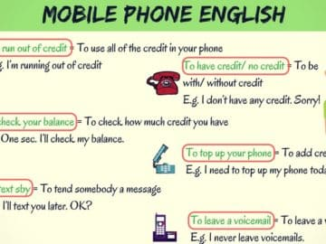 Common Telephone Vocabulary and Phrases in English 16