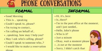 Important Vocabulary and Phrases for English Telephone Conversations 2
