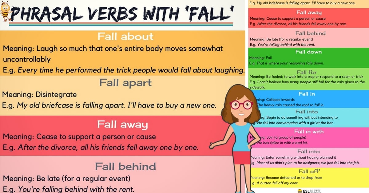 Common Phrasal Verbs with FALL in English 4