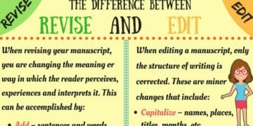 The Difference Between Revising and Editing in English 9