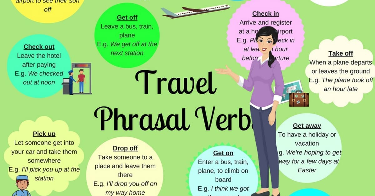 Travel Phrasal Verbs and Expressions in English 6