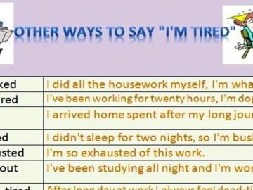 30+ Different Ways to Say I'm Tired 12
