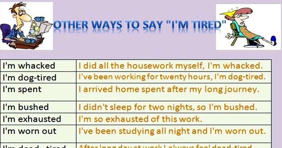 30+ Different Ways to Say I'm Tired in English 19