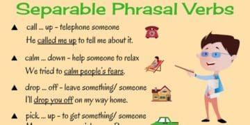 Learn 20+ Separable Phrasal Verbs in English 8