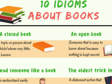 15+ Interesting Idioms about Books in English 25